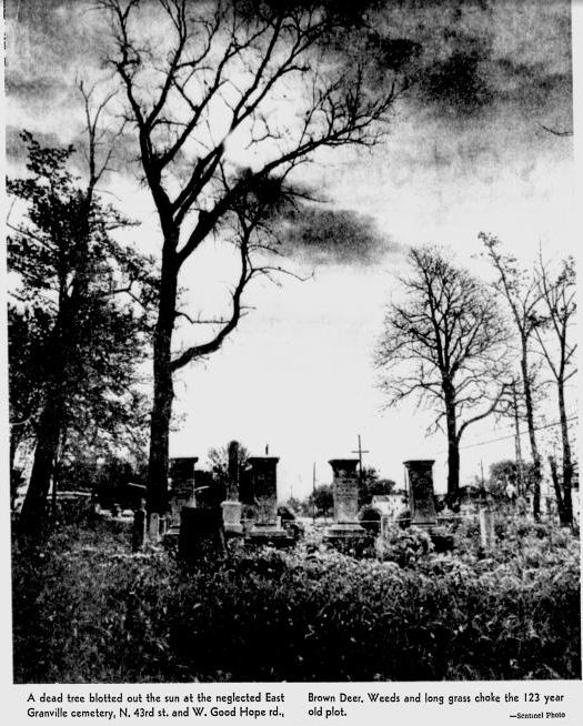 East granville cemetery articles about cemetery history for Granville home of hope